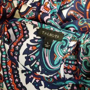 Talbots Tops - Talbots Multi-color Paisley Medallion Blouse